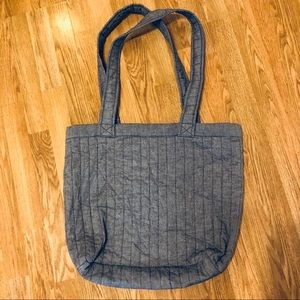 Handbags - Chambray Tote- Denim Look